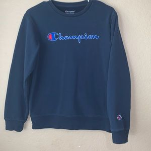 Champion Navy Blue Crewneck Sweatshirt